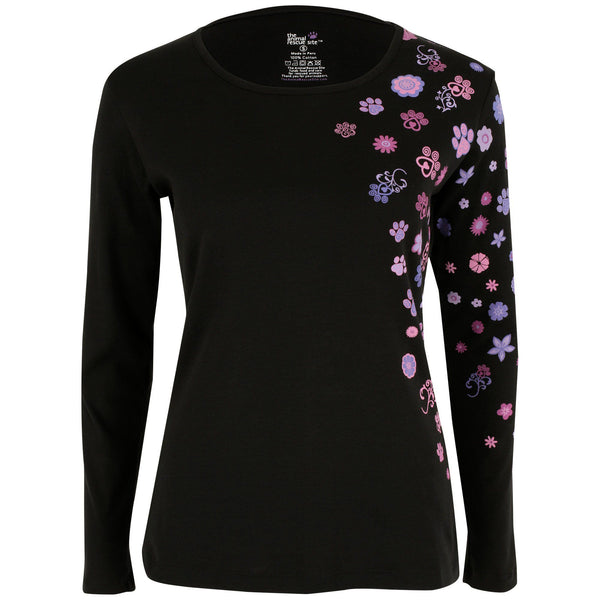 Floral Paws Long Sleeve Tee