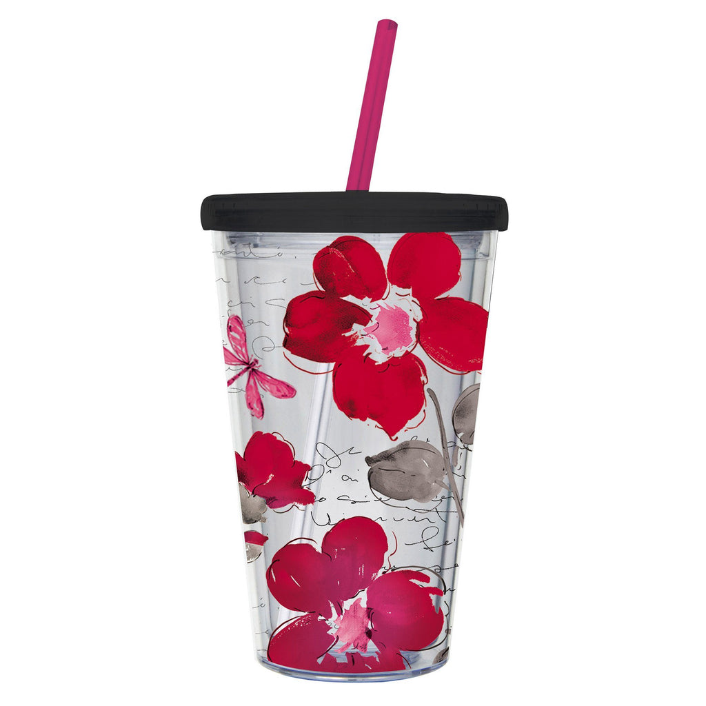 Floral Symphony Travel Cup