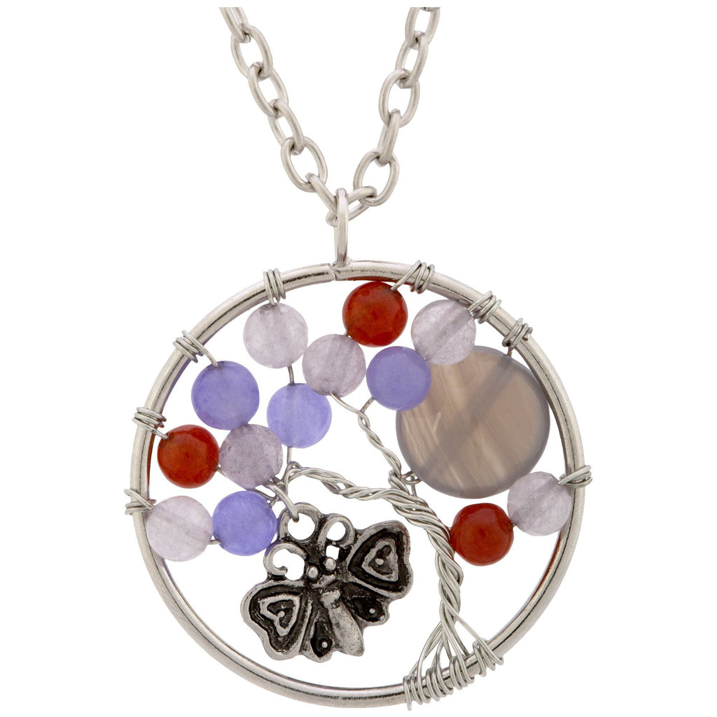 Fluttering Friends At Play Carnelian Necklace
