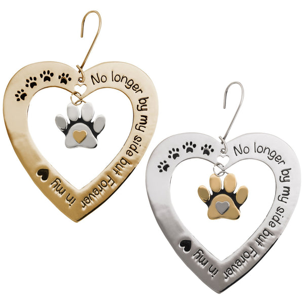 Forever In My Heart Paw Print Ornament