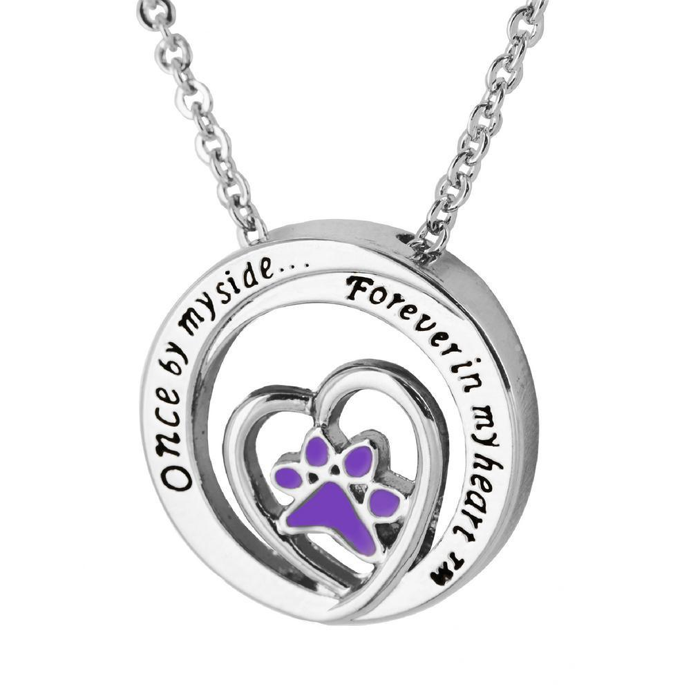 Forever In My Heart™ Purple Paw Necklace