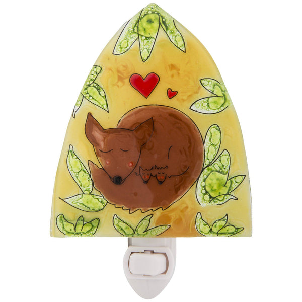 Fox Love Recycled Glass Night Light