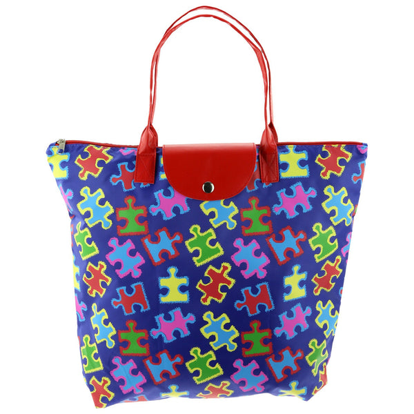 Free Spirit Puzzle Piece Packable Tote