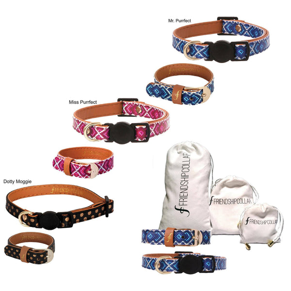 Friendship Cat Collar & Bracelet Set