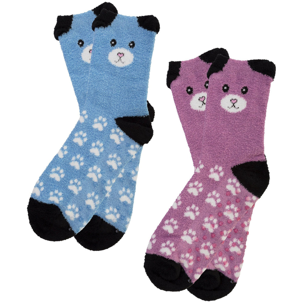 Fuzzy Friends Slipper Socks - Set Of 2