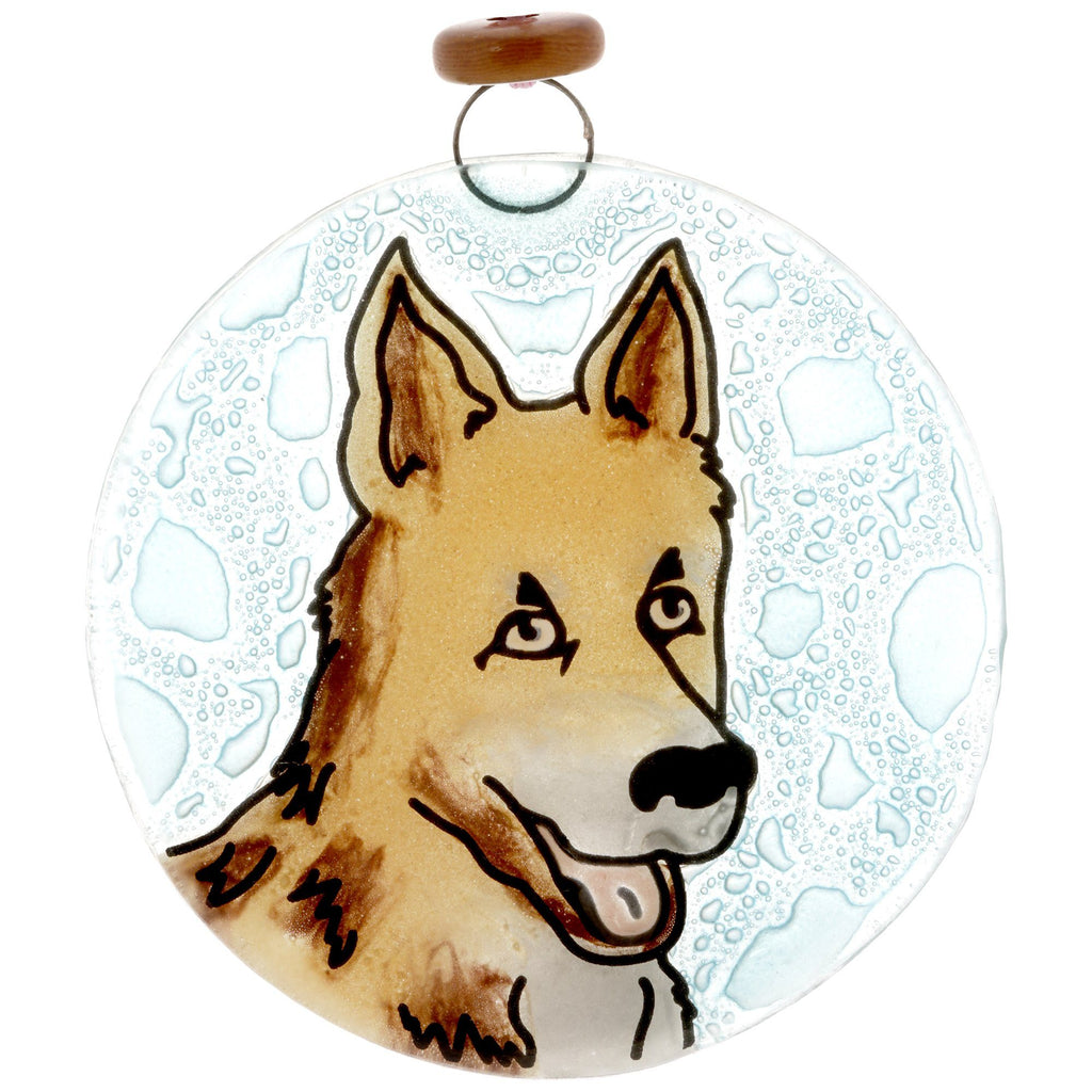 German Shepherd Recycled Glass Ornament