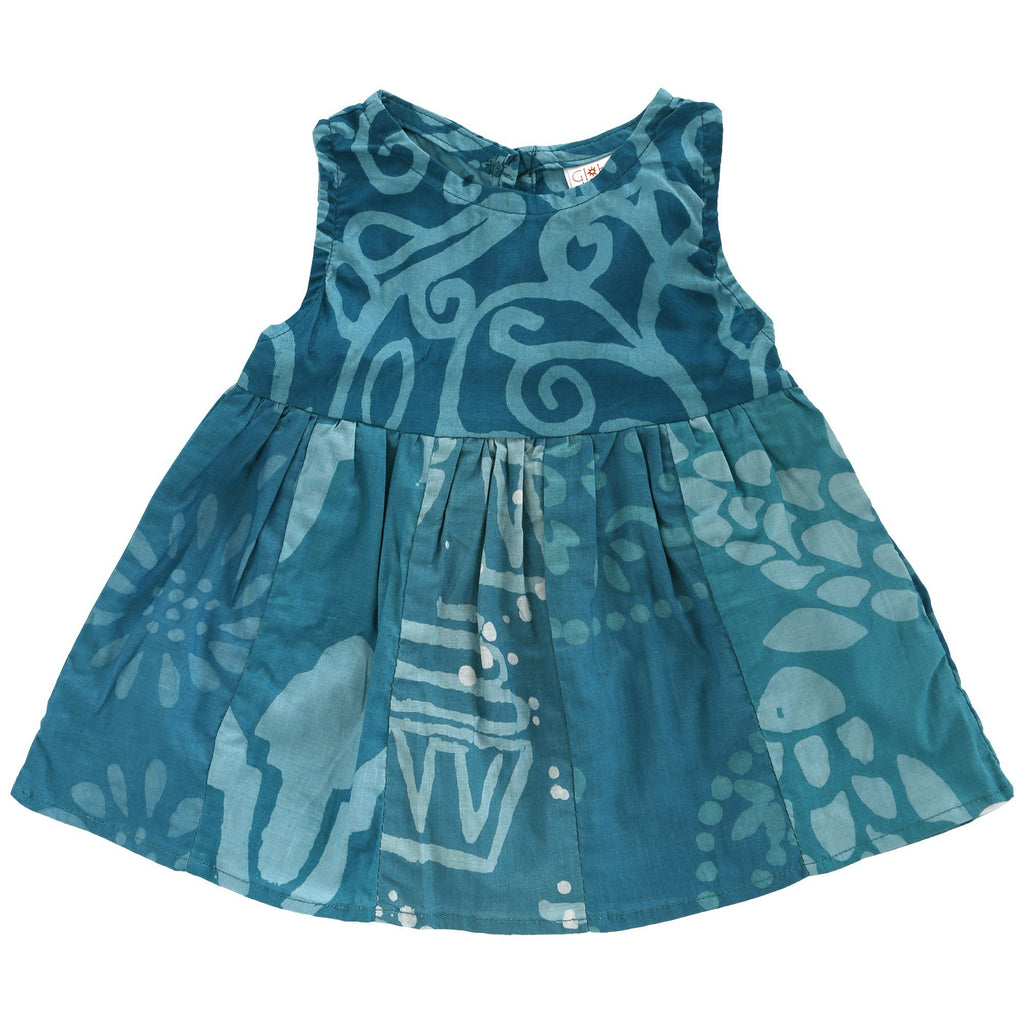 Ghana Batik Girl's Paneled Sundress