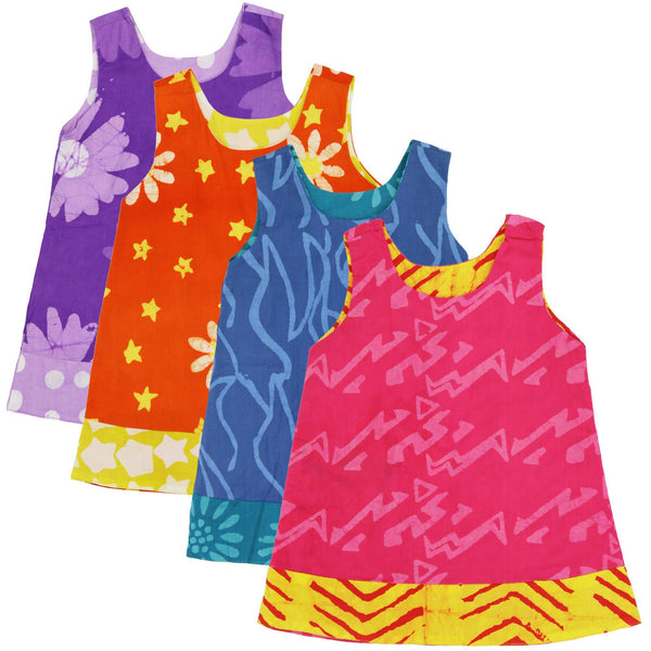 Ghana Batik Girls' Reversible Dress