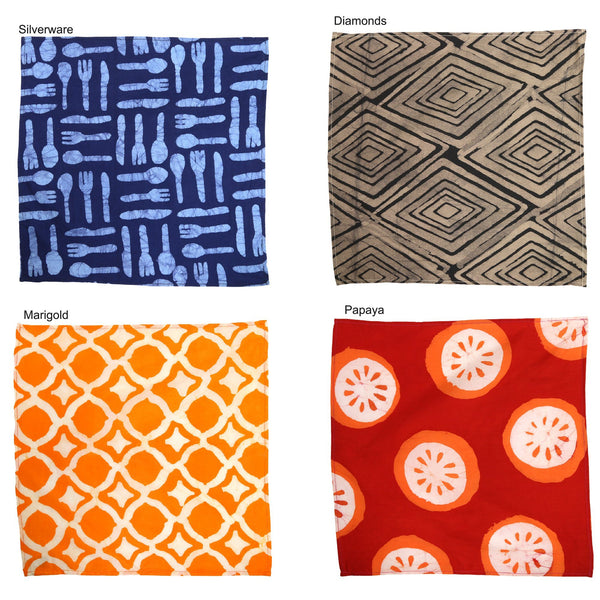 Ghana Batik Napkins Set Of 4