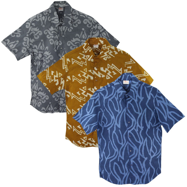 Ghana Batik Slim Men's Shirt