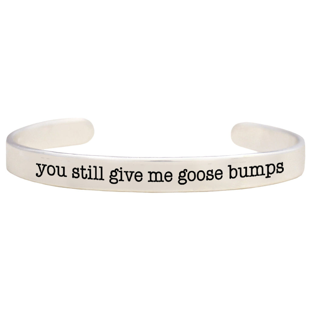 Give Me Goosebumps Pewter Cuff Bracelet