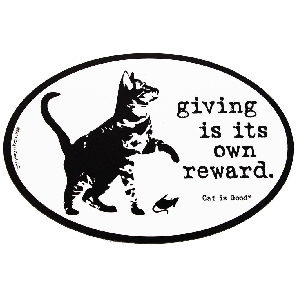 Giving Cat Car Magnet