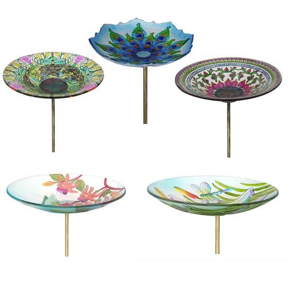 Glass Bird Bath Collection