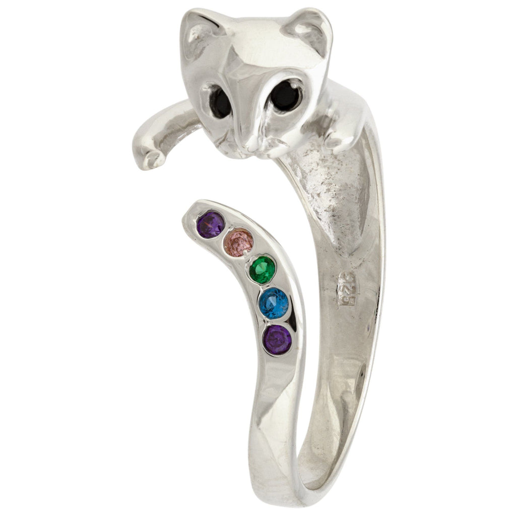 Glittery Kitty Sterling Ring
