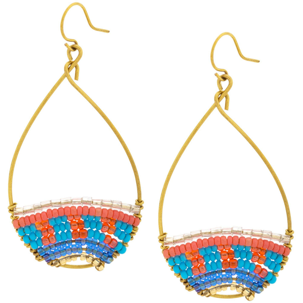 Good Karma Beaded Hoops