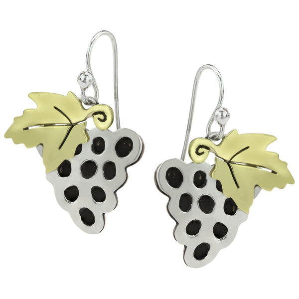 Grape Bunch Sterling Earrings