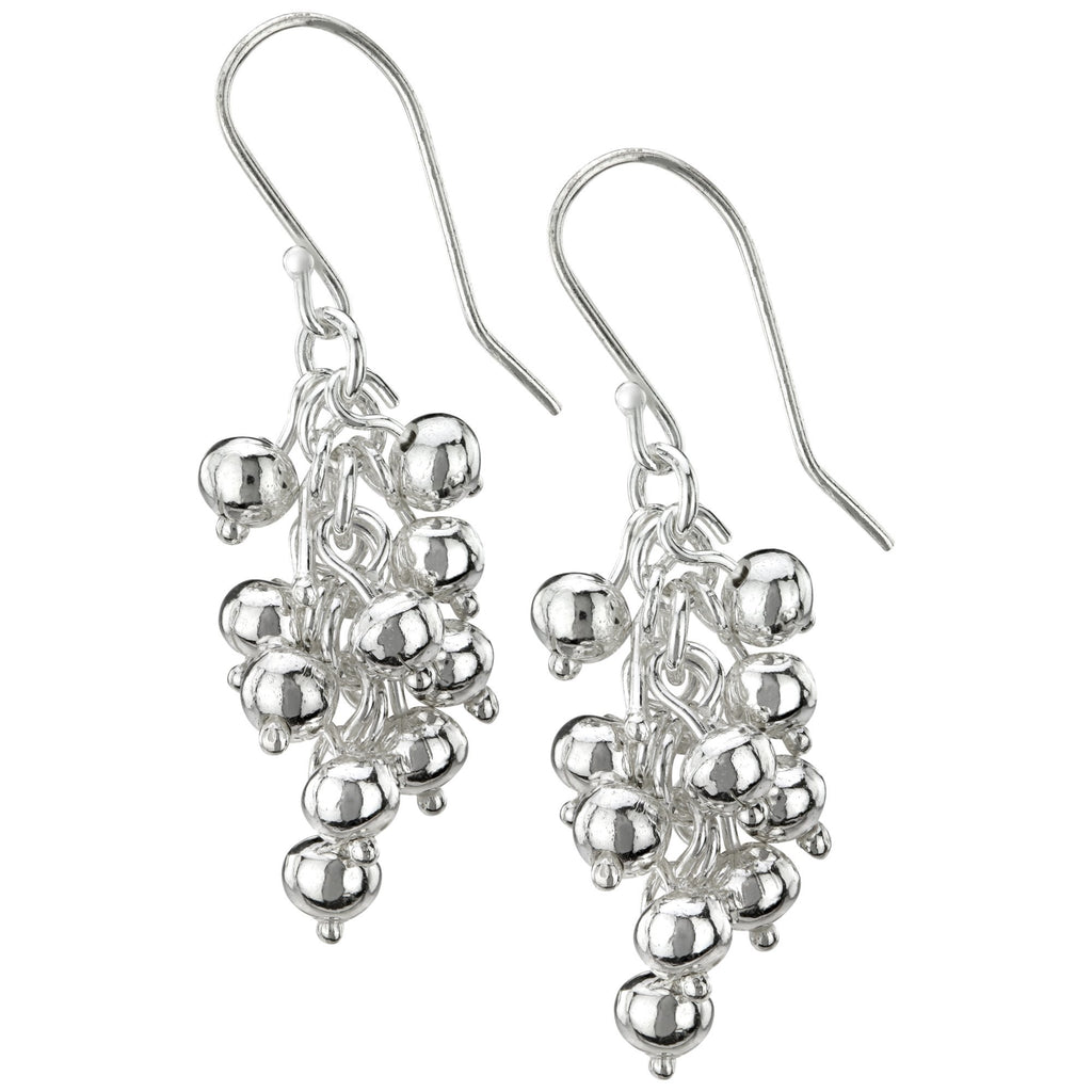 Grape Cluster Sterling Earrings