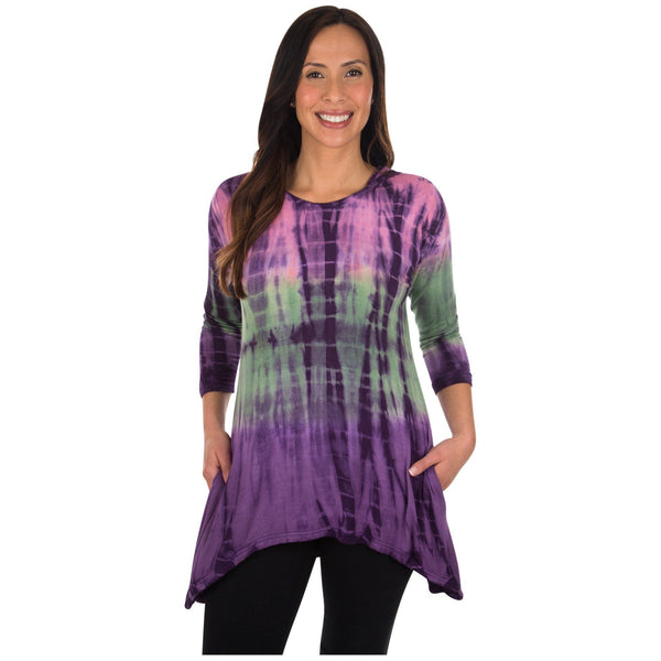 Grape Escape Long Sleeve Hooded Tunic
