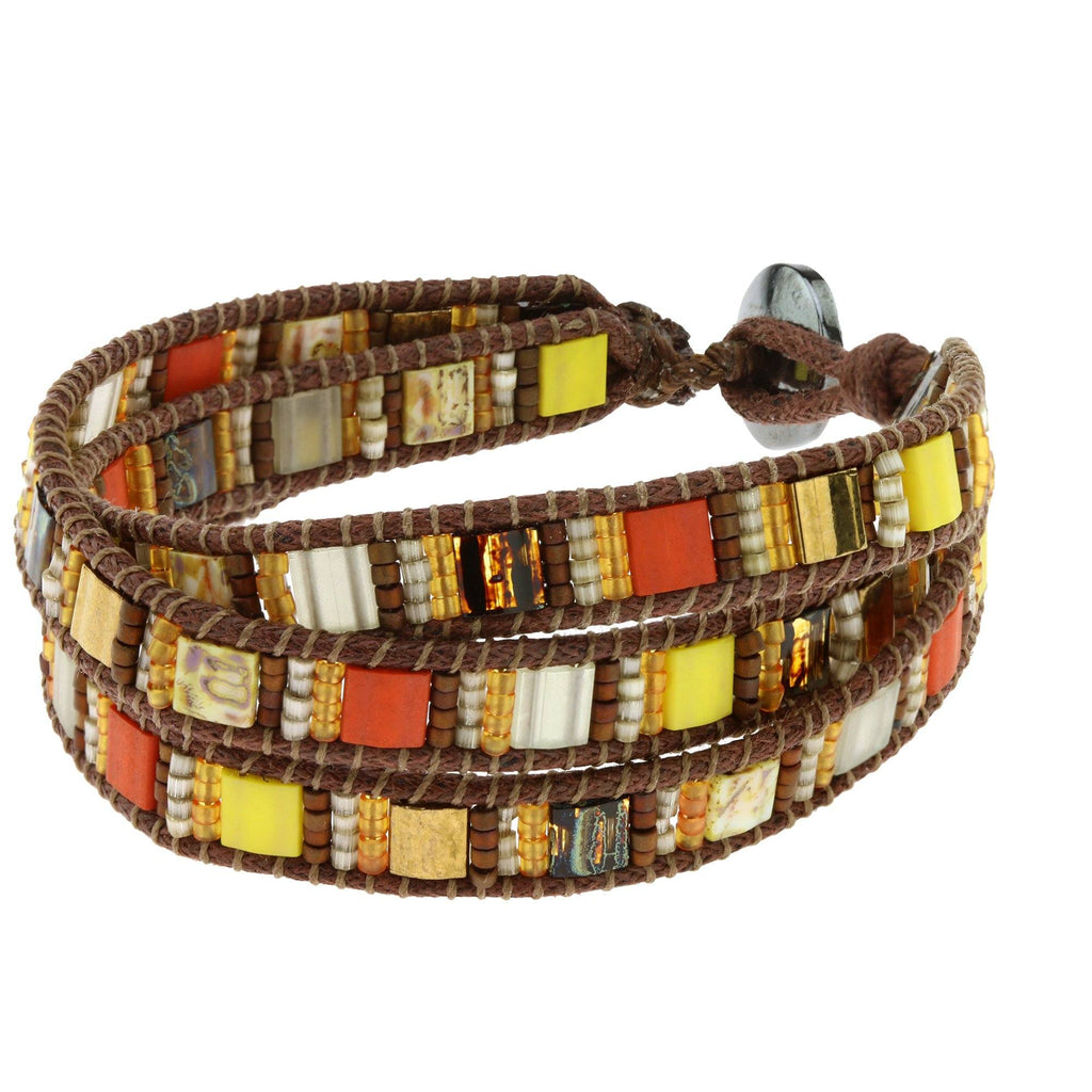 Guatemalan Glass Tile Bracelet
