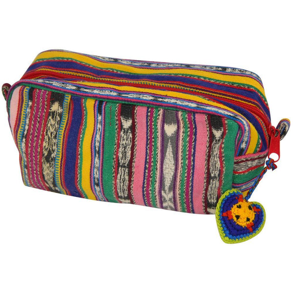 Guatemalan Recycled Rainbow Cosmetic Bag