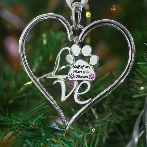 Half Of My Heart Is In Heaven Paw Ornament