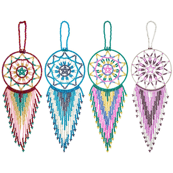 Hand Beaded Dream Catcher Ornament