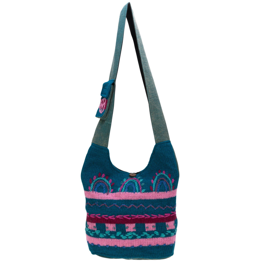 Hand-Embroidered Art Fair Knit Bag