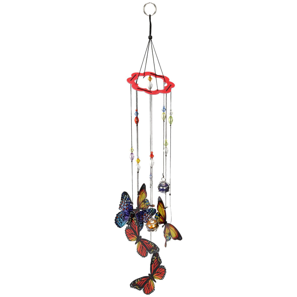Hand-Painted Butterfly Wind Chime