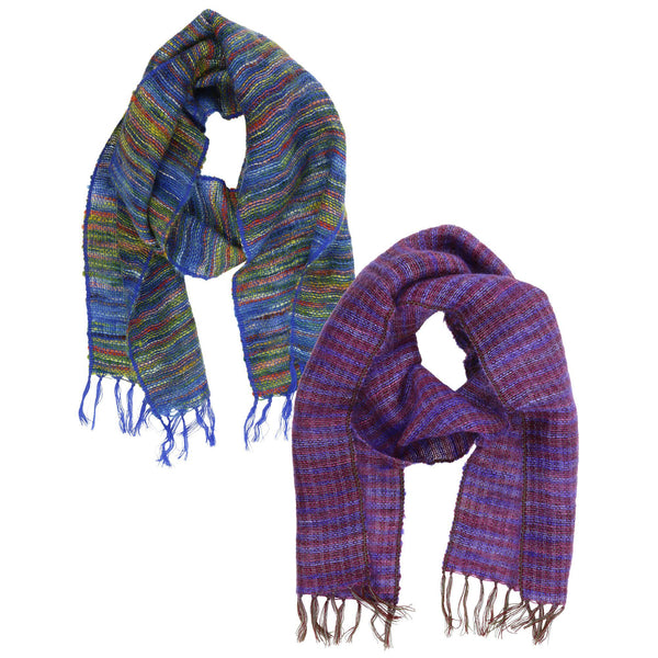 Handwoven Mohair Mix Scarf