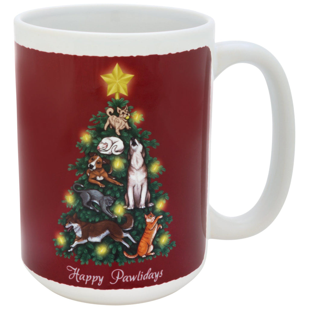 Happy Paw-lidays Mug