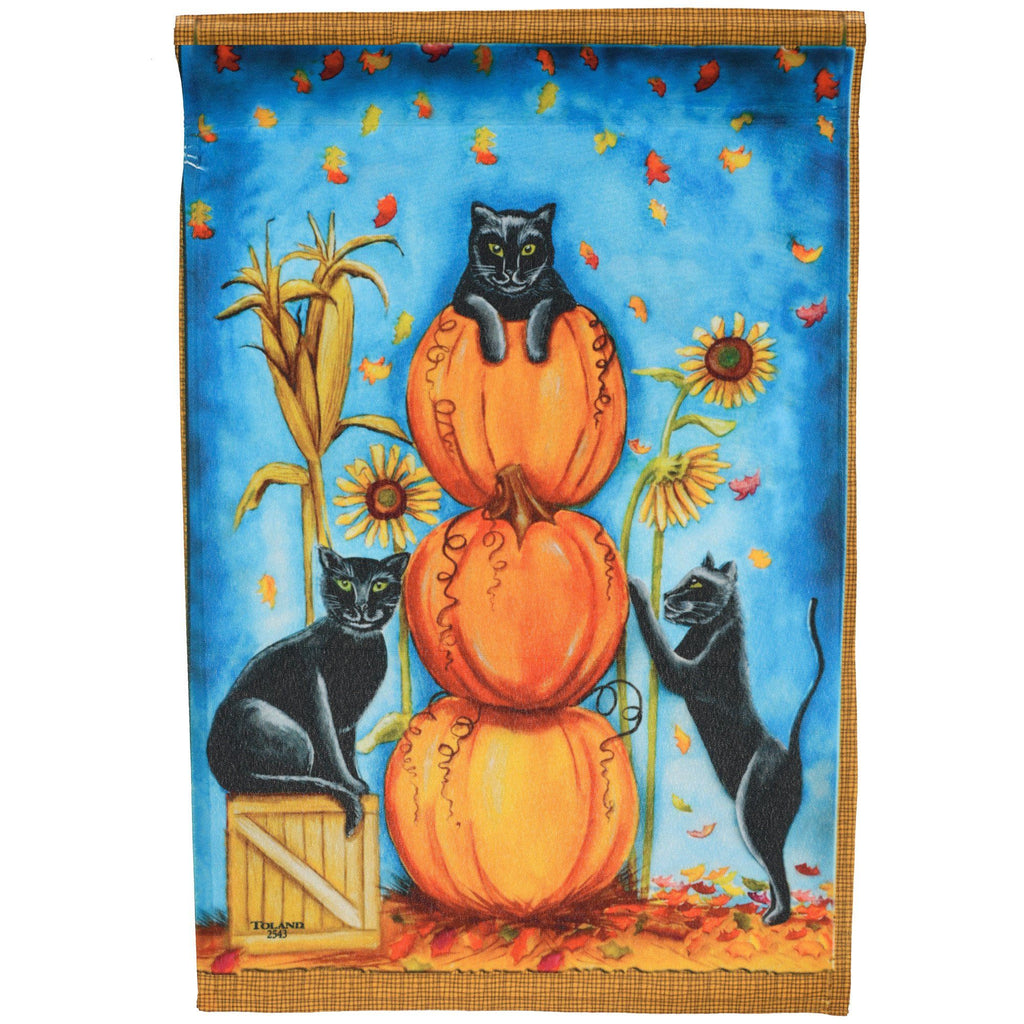 Harvest Cats Garden Flag