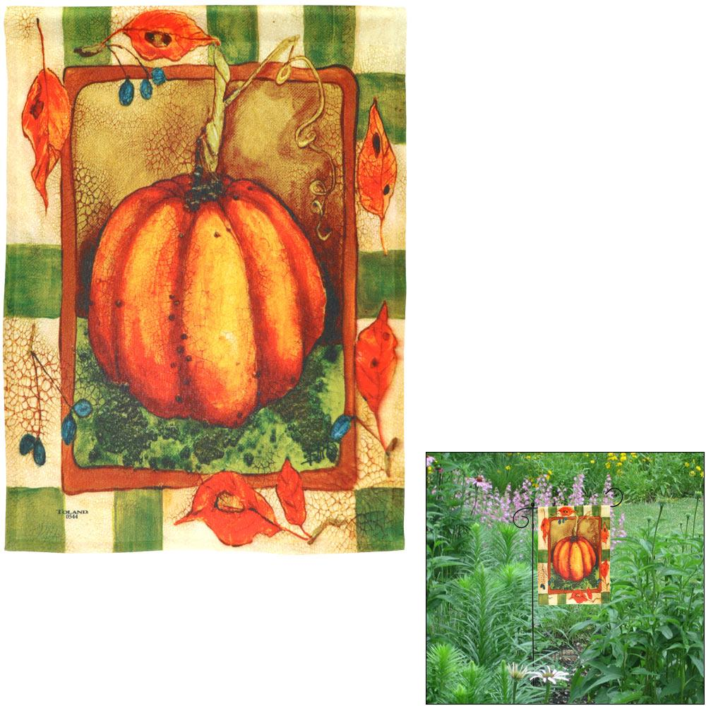 Harvest Pumpkin Garden Flag
