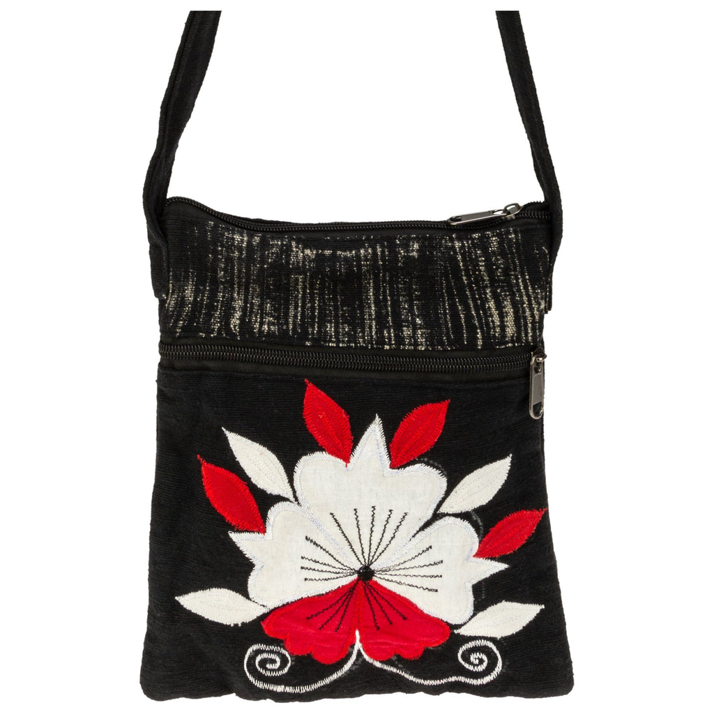 Heart Of Flowers Crossbody Bag