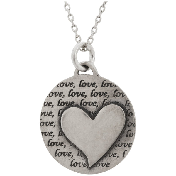 Heart Of Love Pewter Necklace