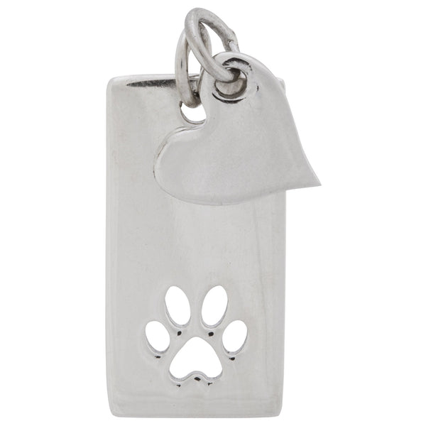 Heart & Paw Sterling Necklace