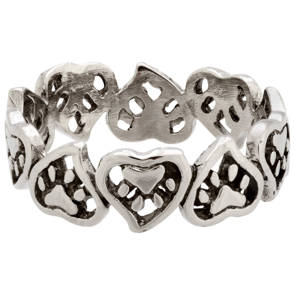 Hearts & Paws Stainless Steel Ring