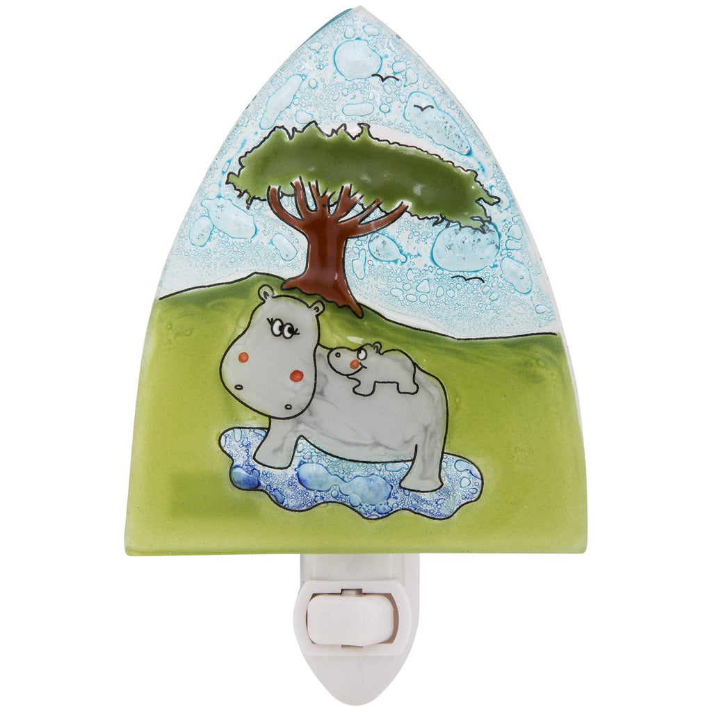 Hippo Love Recycled Glass Night Light
