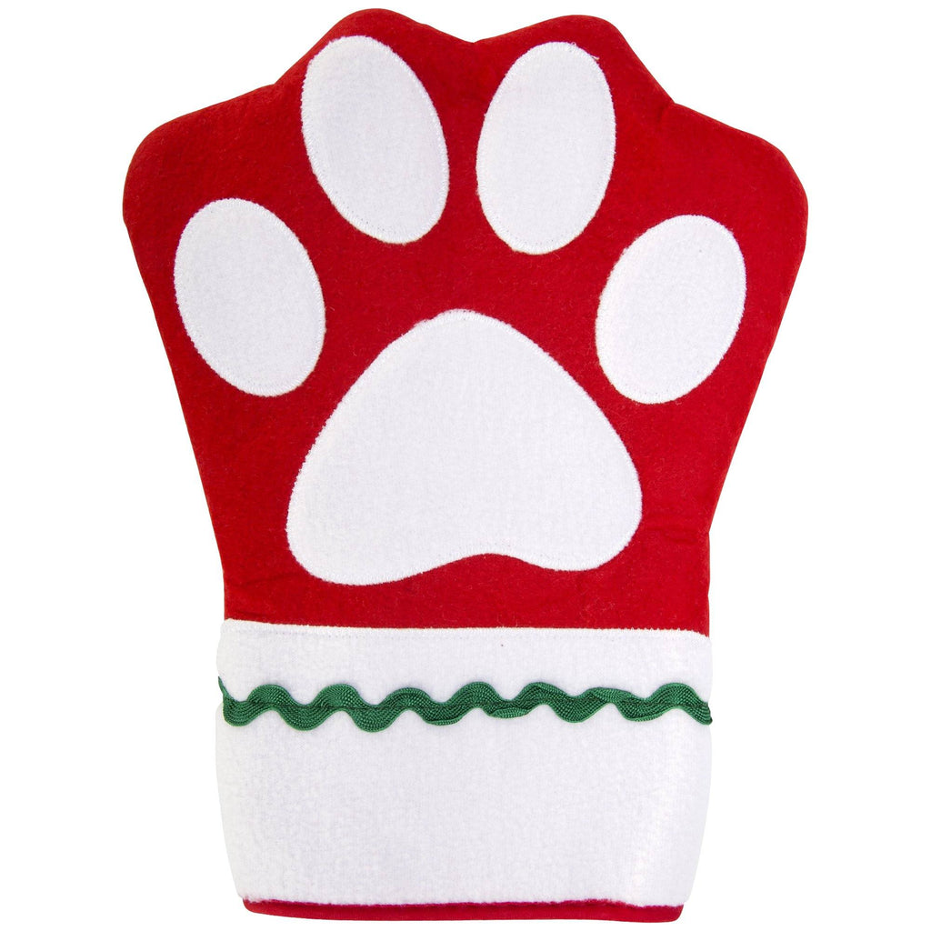 Holiday Paw Print Oven Mitt