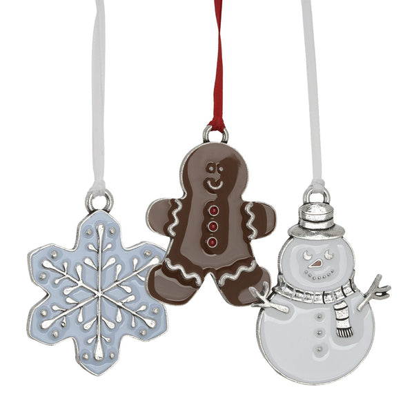 Holiday Treats Pewter Recipe Ornament Collection