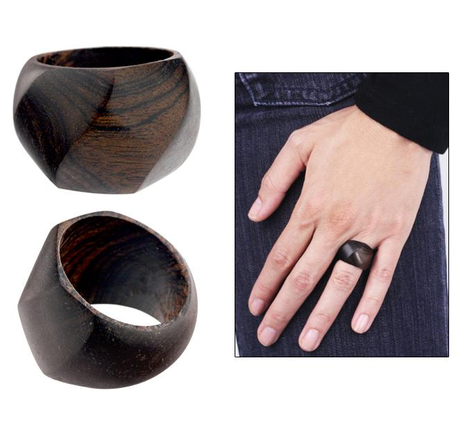 Home - Ethical Ebony Diamond-Cut Ring