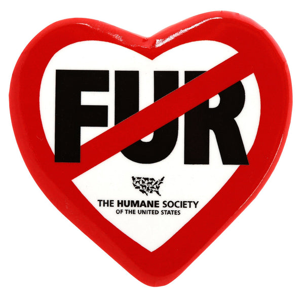 HSUS - Fur Free Heart Button