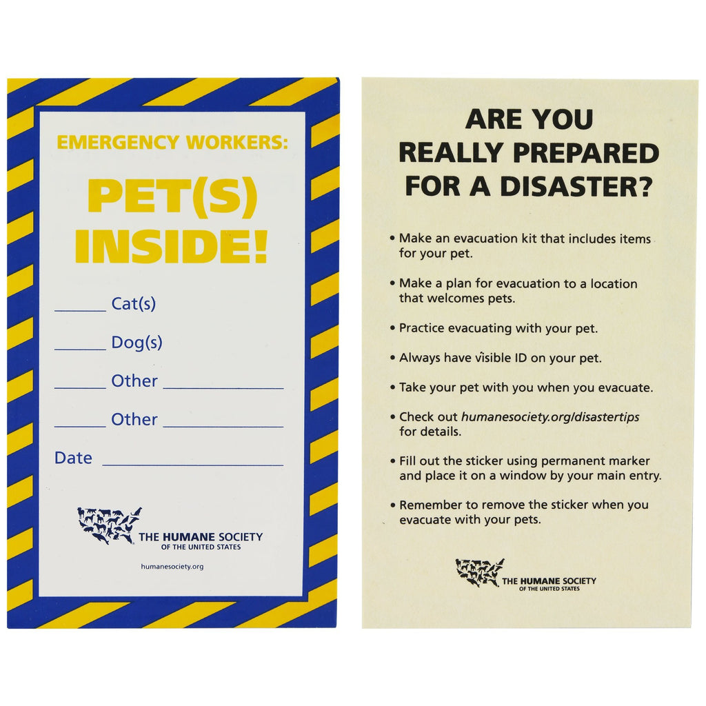 HSUS Save My Pet Window Cling Set