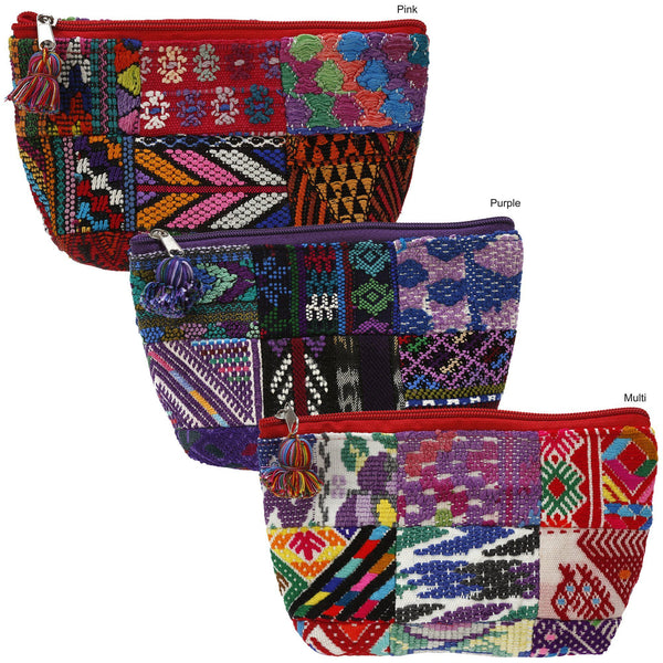 Huipil Patchwork Cosmetic Bag