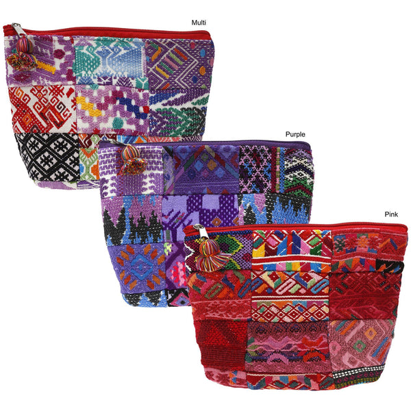 Huipil Patchwork Travel Cosmetic Bag