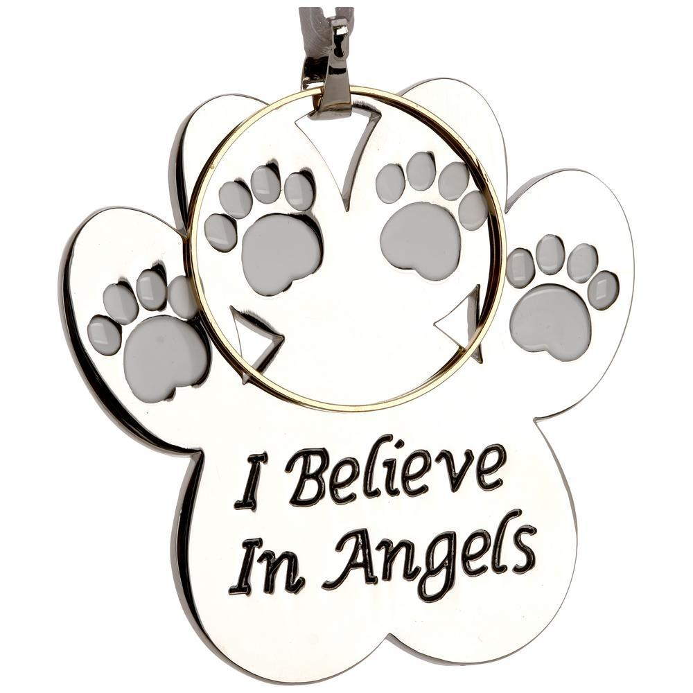 I Believe In Angels Halo Paw Ornament