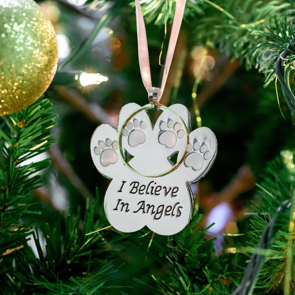Halo Christmas Ornament.I Believe In Angels Halo Paw Ornament