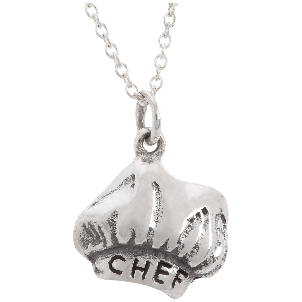 I Cook Therefore I Am Sterling Necklace