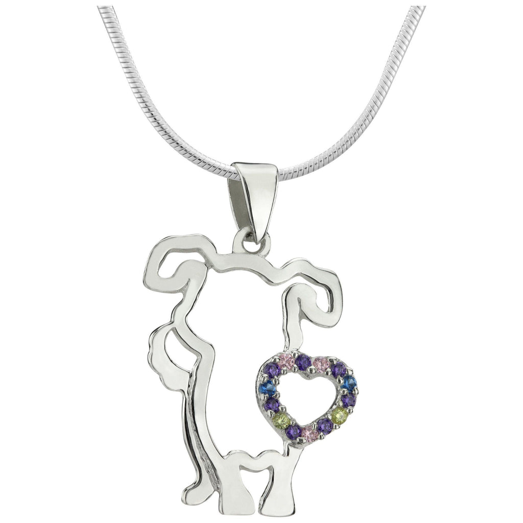 I Love Dogs Sterling Necklace