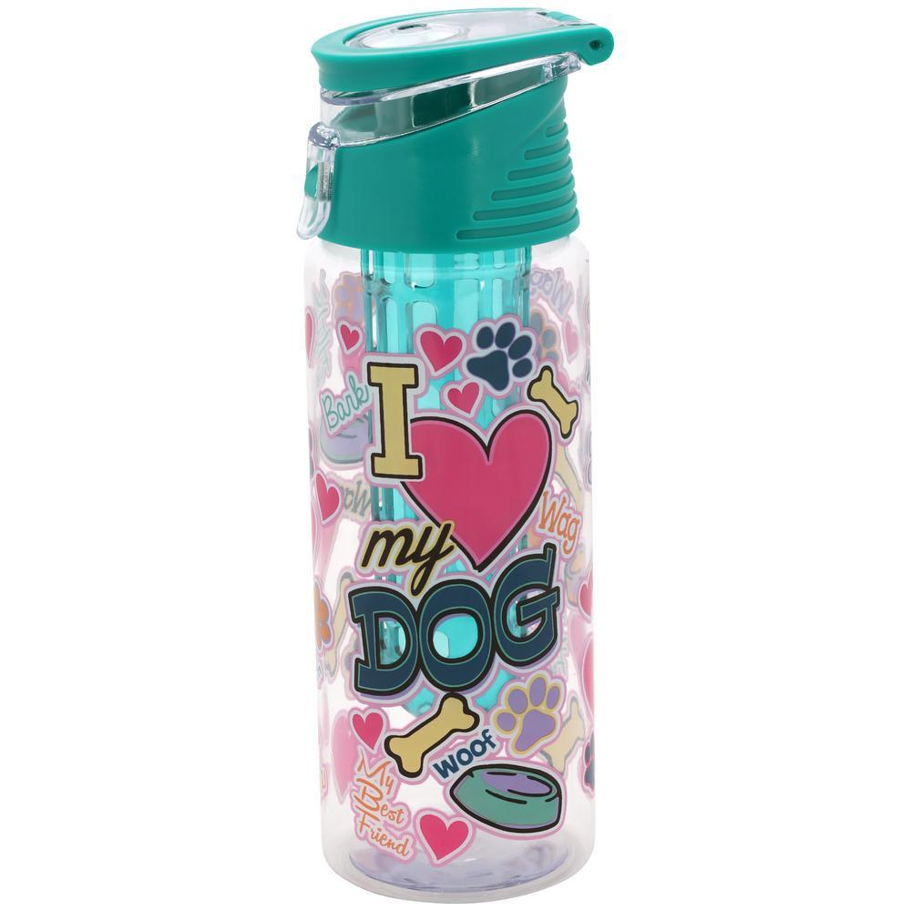 I Love My Dog Infuser Water Bottle
