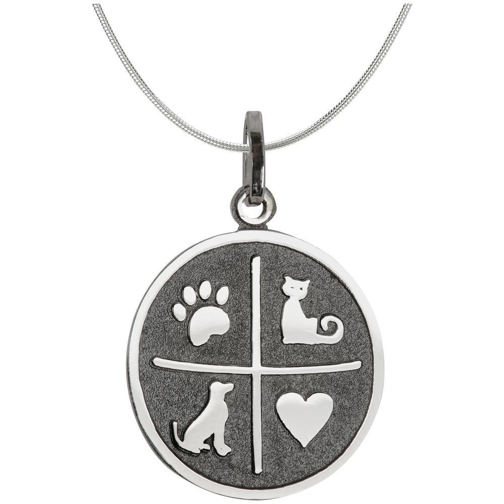 I Love My Pets Sterling Necklace